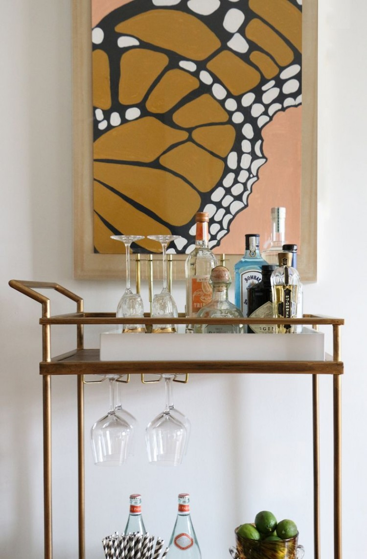 The Everygirl Victoria Solomon NYC Apartment Tour Full Bar Cart
