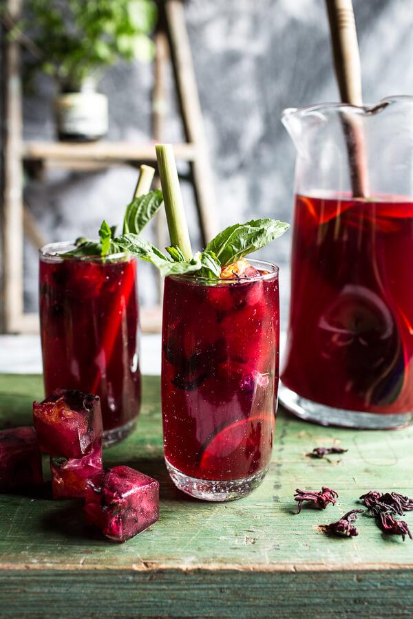 Hibiscus-lemongrass-Basil-and-Honey-Sweet-Iced-Tea-9