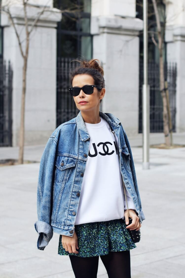 1366259086Fuck_Sweatshirt-Denim_Jacket-Levis-Floral_skirt_oliveclothing-Outfit-Street_Style-17